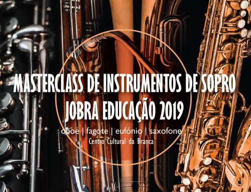 Masterclass de Instrumentos de Sopro Jobra Educação 2019